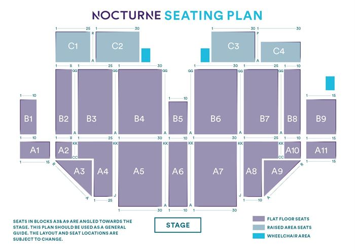 Tears for Fears (Saturday night Show!) Seating plan