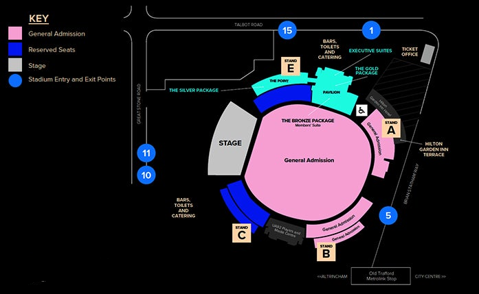 The Killers (Saturday night Show!) Seating plan