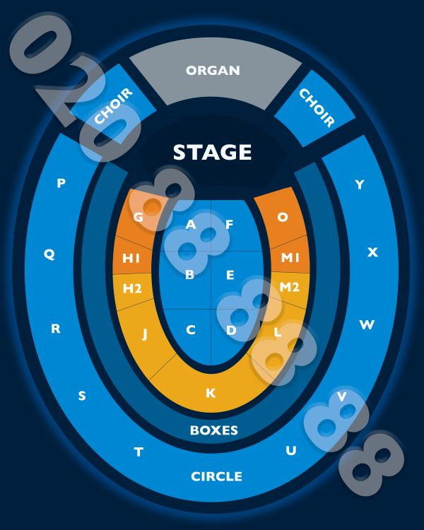 Cliff Richard Seating plan