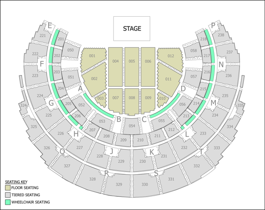 Cher Seating plan
