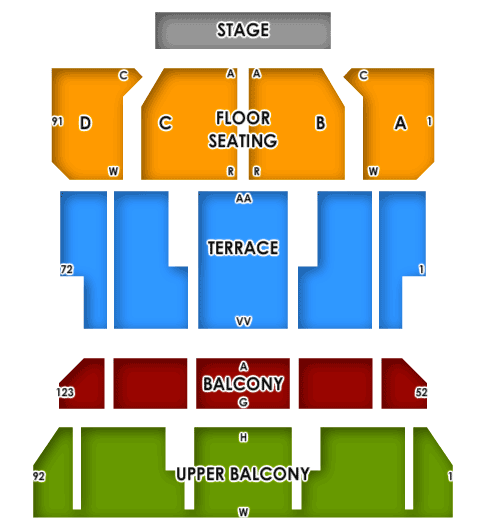 Four Tops + Temptations Seating plan