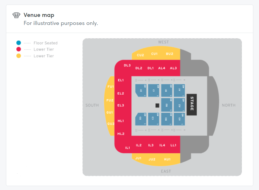 Rod Stewart (Fri Night Show!) Seating plan