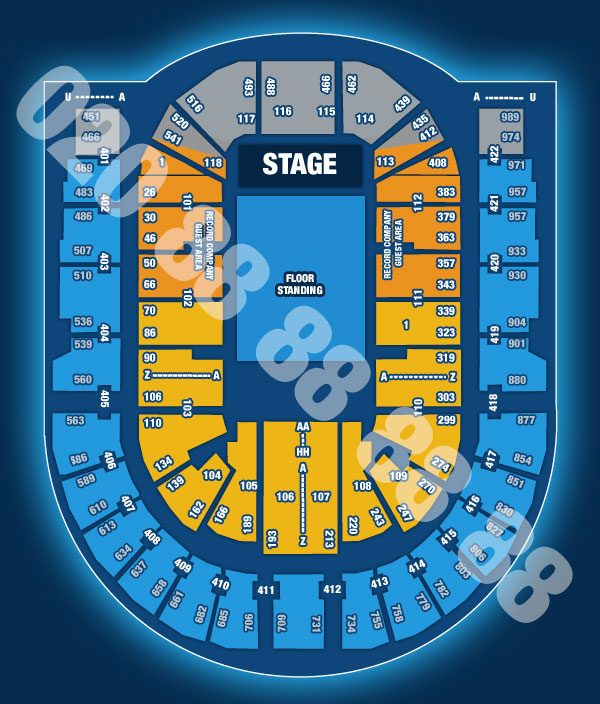 Pete Tong (Saturday Night Show!) Seating plan