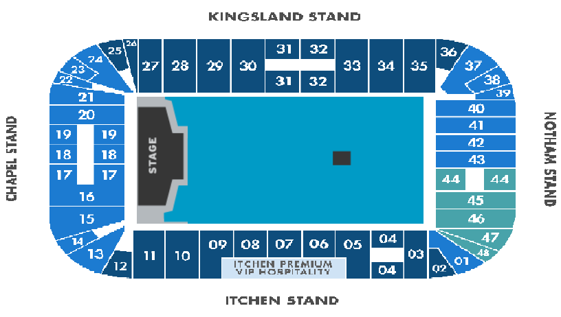 The Killers Seating plan