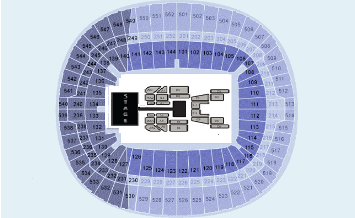 BTS (Sun Night Show!) Seating plan